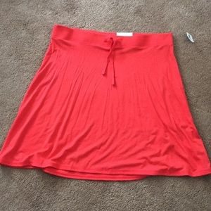 NWT Old Navy Rebellion Red Knit Skirt
